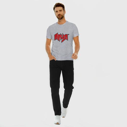 Мужская футболка премиум с принтом Ария, вид сбоку #3