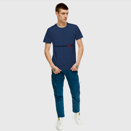 Мужская футболка с принтом Everybody dies, вид сбоку #3
