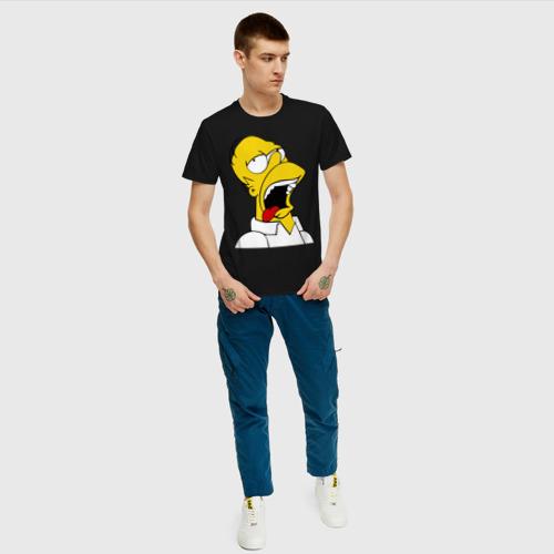 Мужская футболка с принтом Gomer Simpson (2), вид сбоку #3