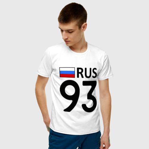 Мужская футболка с принтом Краснодарский край (93), фото на моделе #1