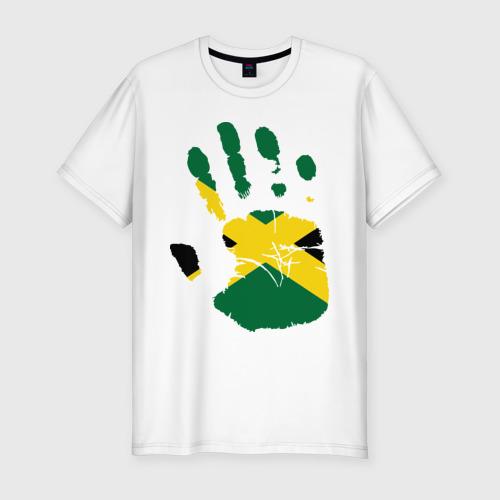 Мужская футболка премиум Рука Ямайки