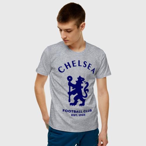 Мужская футболка с принтом Челси Футбольный клуб Chelsea, фото на моделе #1