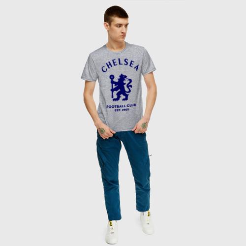 Мужская футболка с принтом Челси Футбольный клуб Chelsea, вид сбоку #3