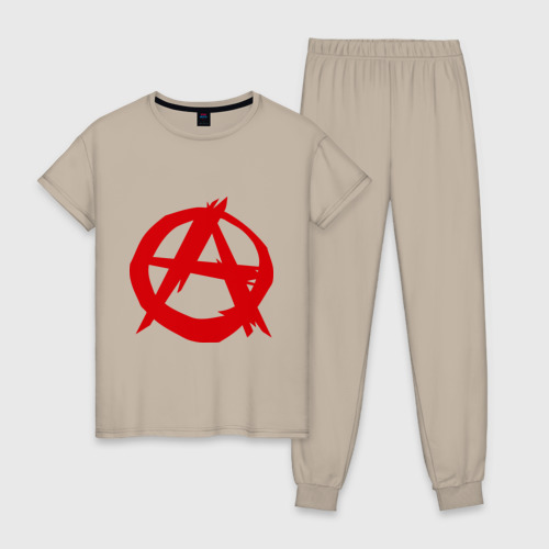 Женская пижама хлопок Анархист