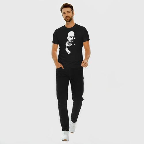 Мужская футболка премиум с принтом Ленин, вид сбоку #3