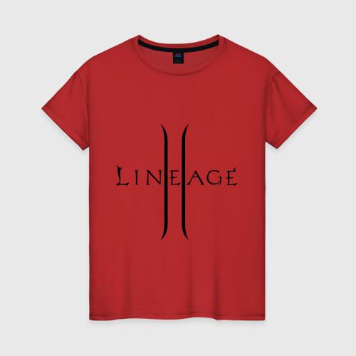 Женская футболка Lineage logo