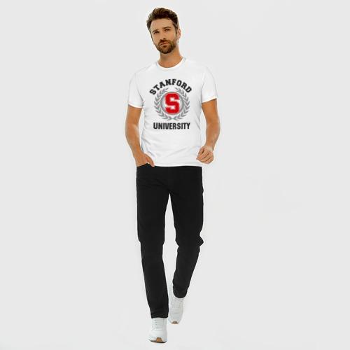 Мужская футболка премиум с принтом Стэнфорд, вид сбоку #3