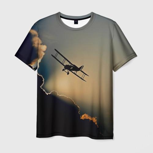 Мужская 3D футболка с принтом Покоритель небес, вид спереди #2