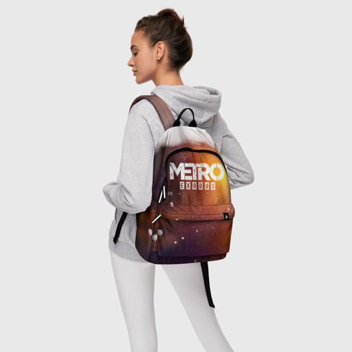 Рюкзак 3D с принтом МЕТРО, фото #4
