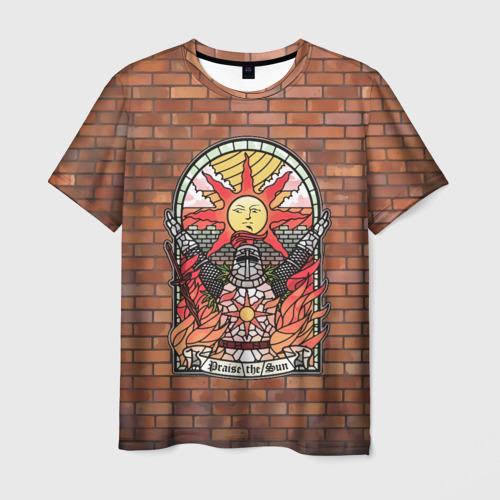 Мужская 3D футболка Praise the sun