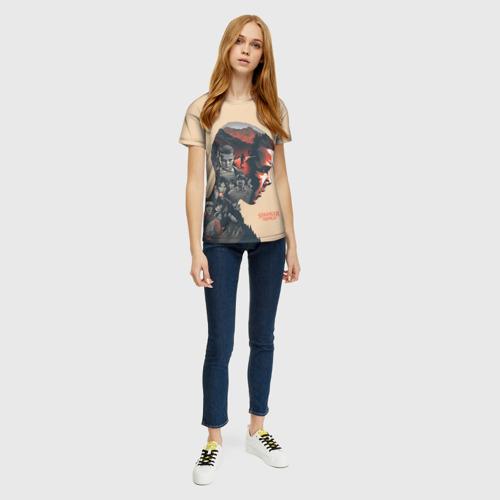 Женская 3D футболка с принтом Eleven, вид сбоку #3