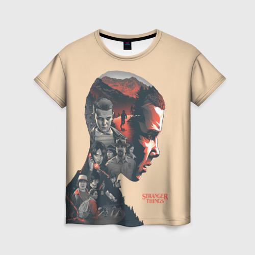Женская 3D футболка с принтом Eleven, вид спереди #2