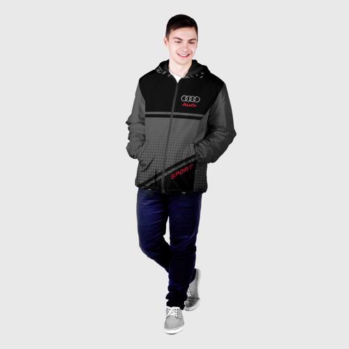 Мужская куртка 3D с принтом AUDI  SPORT, фото на моделе #1