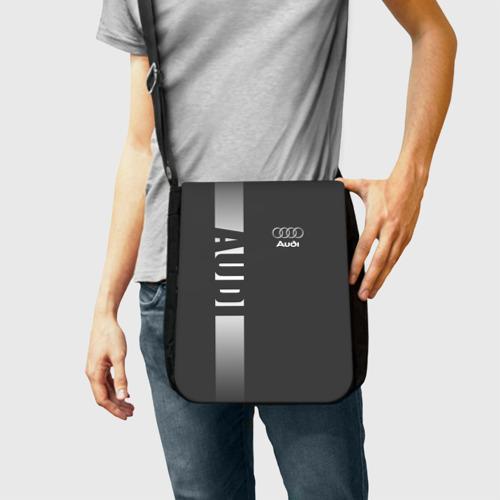 Сумка через плечо с принтом AUDI |  АУДИ, фото на моделе #1