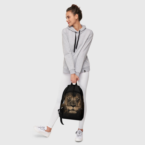 Рюкзак 3D с принтом Лев, фото #6