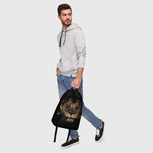 Рюкзак 3D с принтом Лев, фото #5
