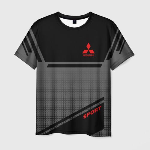 Мужская 3D футболка MITSUBISHI SPORT