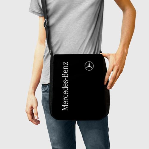 Сумка через плечо с принтом Mercedes-Benz, фото на моделе #1