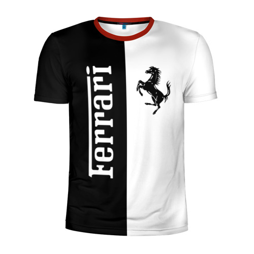 Мужская футболка 3D спортивная Ferrari