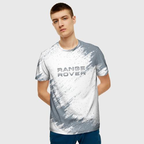 Мужская 3D футболка с принтом RANGE ROVER, фото на моделе #1