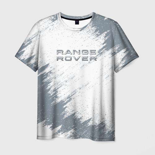 Мужская 3D футболка с принтом RANGE ROVER, вид спереди #2