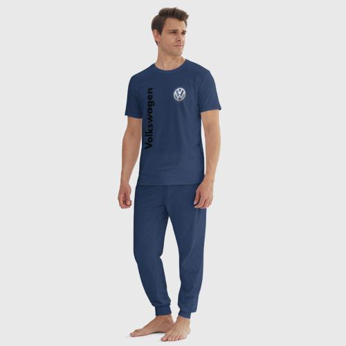 Мужская пижама хлопок с принтом Volkswagen, вид сбоку #3