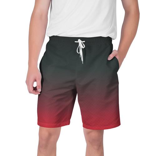 Мужские шорты 3D Red Carbon