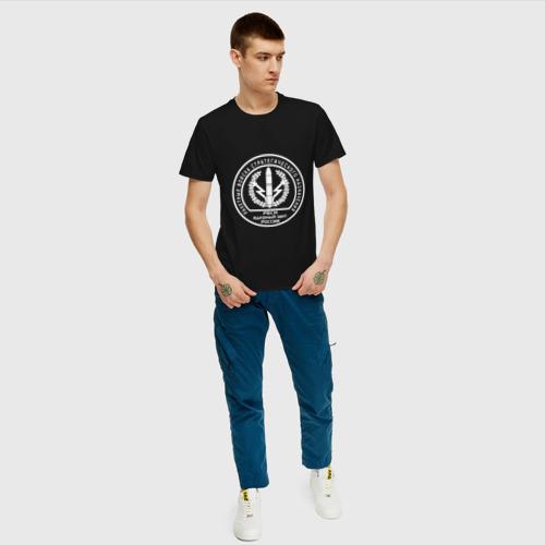 Мужская футболка с принтом Шеврон РВСН (двусторонний), вид сбоку #3