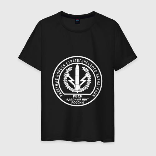 Мужская футболка с принтом Шеврон РВСН (двусторонний), вид спереди #2