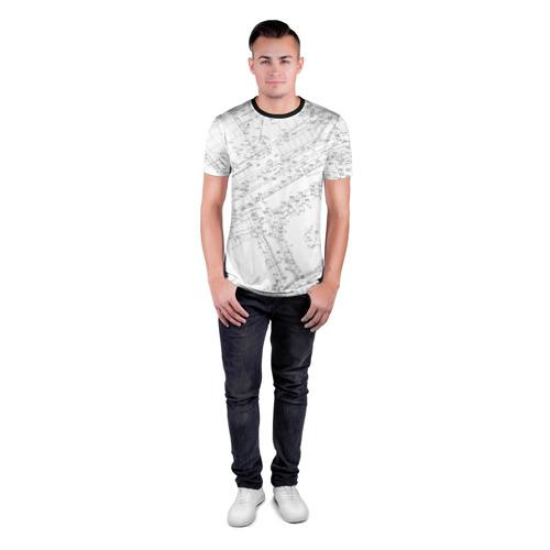 Мужская футболка 3D спортивная с принтом Топография01, вид сбоку #3