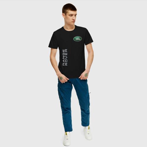 Мужская футболка с принтом Land Rover - Range Rover, вид сбоку #3