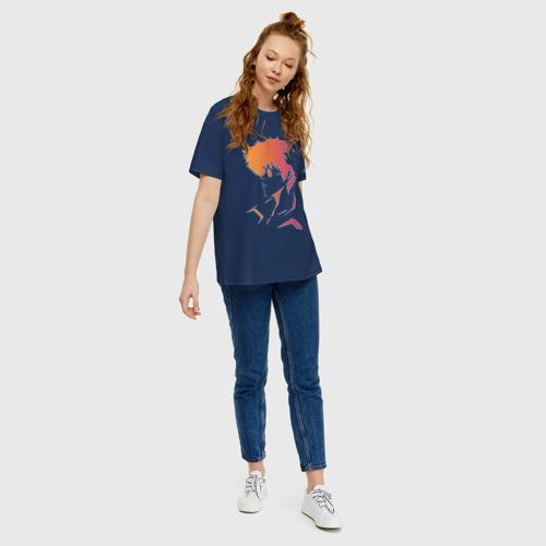Женская футболка oversize с принтом Space cowboy, вид сбоку #3