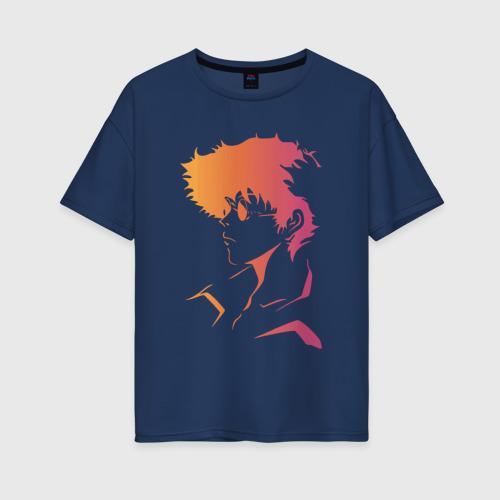 Женская футболка oversize с принтом Space cowboy, вид спереди #2