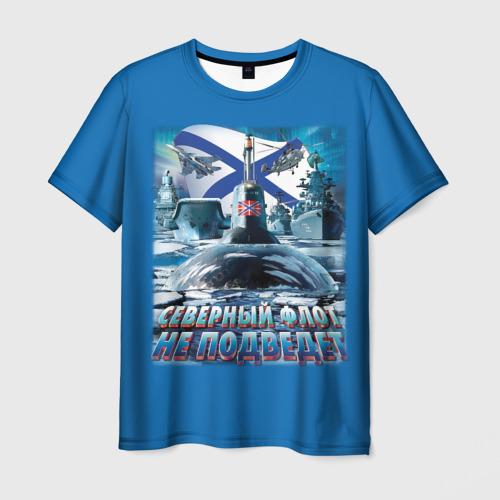 Мужская 3D футболка Северный Флот Не Подведет