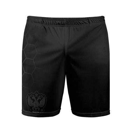 Мужские шорты 3D спортивные с принтом Russia 2018 Shorts (Legend), вид спереди #2