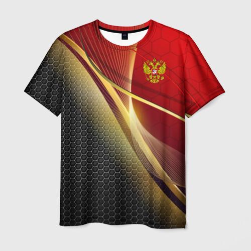 Мужская 3D футболка RUSSIA SPORT: Red and Black