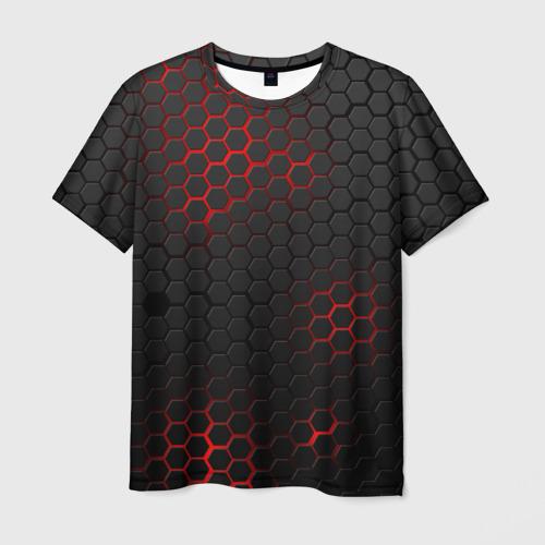 Мужская 3D футболка СТАЛЬНАЯ БРОНЯ | STEEL ARMOUR | НЕОНОВАЯ БРОНЯ