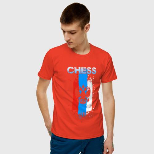 Мужская футболка с принтом Chess, фото на моделе #1