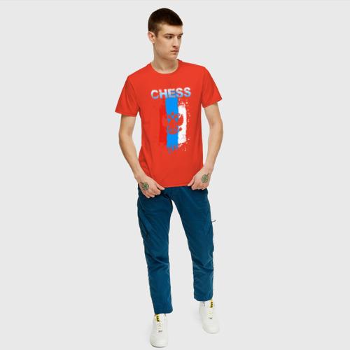 Мужская футболка с принтом Chess, вид сбоку #3