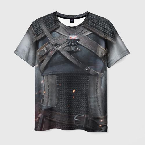 Мужская 3D футболка Геральт   снаряжение