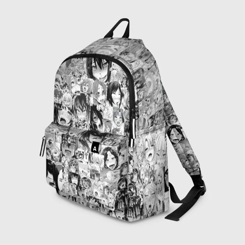 Рюкзак 3D с принтом АХЕГАО ЛИЦА | AHEGAO FACES, вид спереди #2