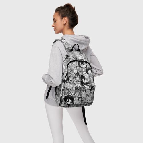 Рюкзак 3D с принтом АХЕГАО ЛИЦА | AHEGAO FACES, фото #4