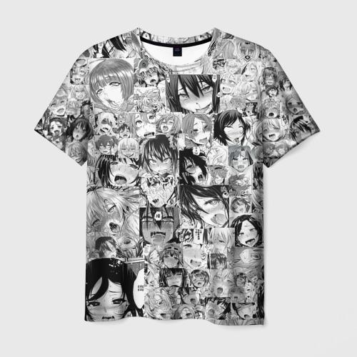 Мужская 3D футболка АХЕГАО ЛИЦА | AHEGAO FACES