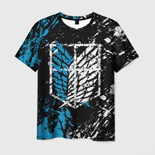 Мужская 3D футболка АТАКА ТИТАНОВ в основных цветах