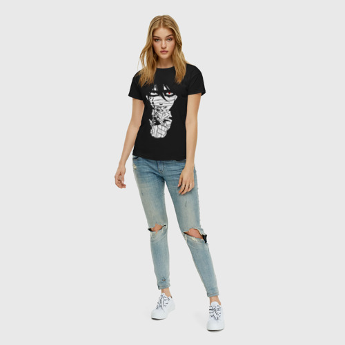 Женская футболка с принтом Зак минимал, вид сбоку #3