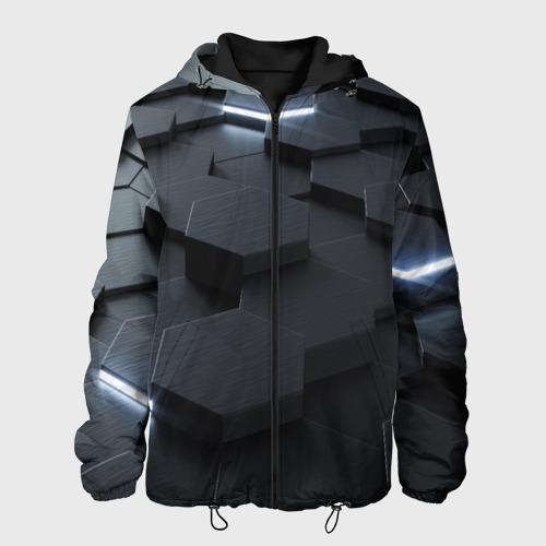 Мужская куртка 3D с принтом НАНО СОТЫ, вид спереди #2
