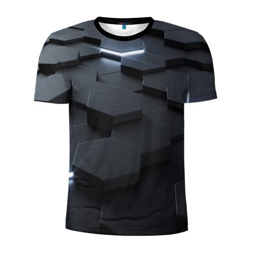 Мужская футболка 3D спортивная НАНО СОТЫ