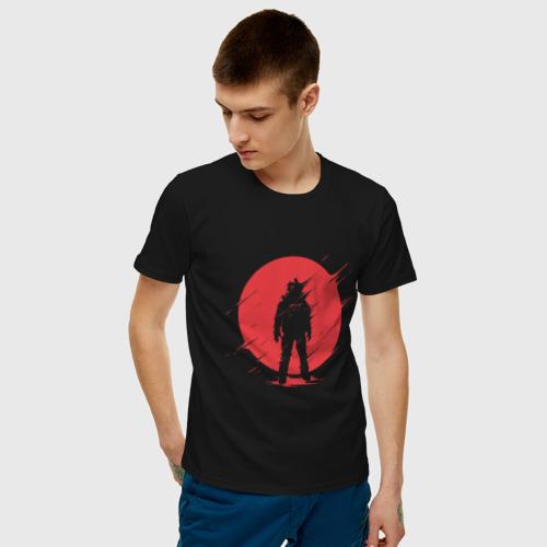 Мужская футболка с принтом Космонавт, фото на моделе #1