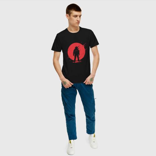 Мужская футболка с принтом Космонавт, вид сбоку #3