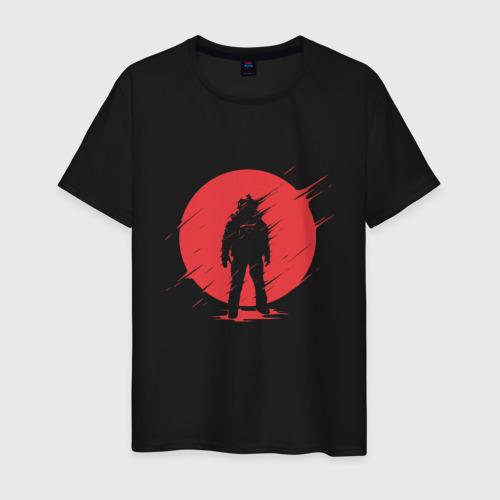 Мужская футболка с принтом Космонавт, вид спереди #2
